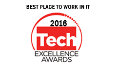 Award - Tech Excellence Best Place To Work In IT 2016 - Colour