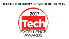 Award - Tech Excellence Managed Security Provider of the Year 2017 - Colour